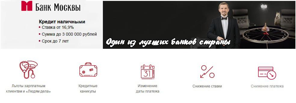 кредит наличными банка москвы